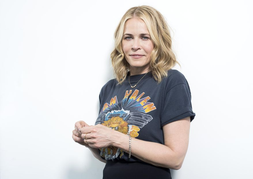 Chelsea Handler poses after an interview in New York on April 26, 2016. (Scott Gries/Invision/AP) **FILE**
