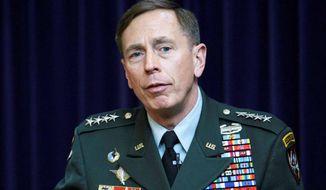 Gen. David Petraeus. ** File (Associated Press)