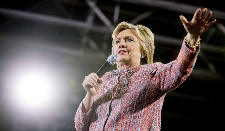 Democratic Presidential Candidate Hillary Clinton Speaks At A Rally Northern Virginia Community College In Annandale