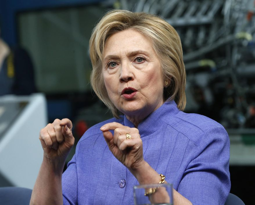 Democratic presidential candidate Hillary Clinton speaks in Hampton, Va. (AP Photo/Steve Helber, File)