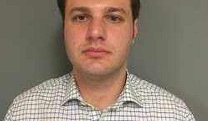 This photo provided by Connecticut State Police, shows Justin Goldstein.  State police say Goldstein, of Hamden, Conn., was arrested Wednesday, July 13, 2016,  charged with promoting a minor in an obscene performance and possession of child pornography. Police say they launched an investigation in June after video files of suspected child pornography were downloaded from the internet account belonging to Goldstein. (Connecticut State Police via AP)