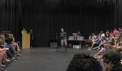 """Royce Mann, a 14-year-old student at The Paideia School in Atlanta, won first place for a slam poem titled, """"White Boy Privilege."""""""