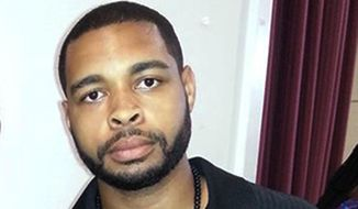 """This undated photo posted on Facebook on April 30, 2016, shows Micah Johnson, who was a suspect in the sniper slayings of five law enforcement officers in Dallas Thursday night, July 7, 2016, during a protest over two recent fatal police shootings of black men. Authorities have described the Dallas sniper Micah Johnson as a loner. President Barack Obama called him """"demented."""" But in multiple interviews with The Associated Press, the Mississippi-born, Texas-bred 25-year-old was remembered by friends, comrades and acquaintances as a gregarious, even """"goofy"""" extrovert. But after his Army career ended in disgrace, they say, the easygoing young black man was suddenly deeply shamed and ostracized. (Facebook via AP)"""