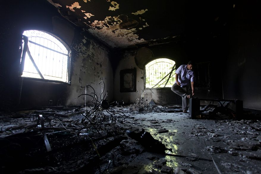 No military forces were coming to rescue Americans besieged by terrorists on the night of Sept. 11, 2012, at the diplomatic outpost in Benghazi, Libya, according to a critical congressional report. (Associated Press)