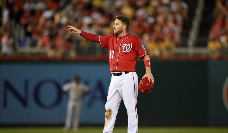 The Nationals' Stephen Drew and Clint Robinson (inset) shined in starting roles this past weekend as Washington took two victories against the Pittsburgh Pirates. Drew had three doubles and two runs scored filling in for Daniel Murphy on Saturday while Robinson had a game-tying single on Friday in place of Ryan Zimmerman. (Associated Press Photographs)