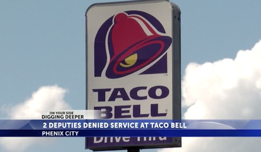 Taco Bell has fired an employee who refused to serve two Alabama sheriff's deputies over the weekend, the fast food chain said Monday.