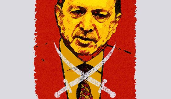 Erdogan and the Brotherhood Illustration by Greg Groesch/The Washington Times