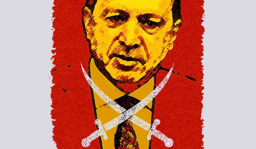 Erdogan and the Brotherhood Illustration by Greg Groesch/The Washington Times