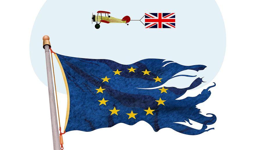 Anti-EU Movement Illustration by Greg Groesch/The Washington Times