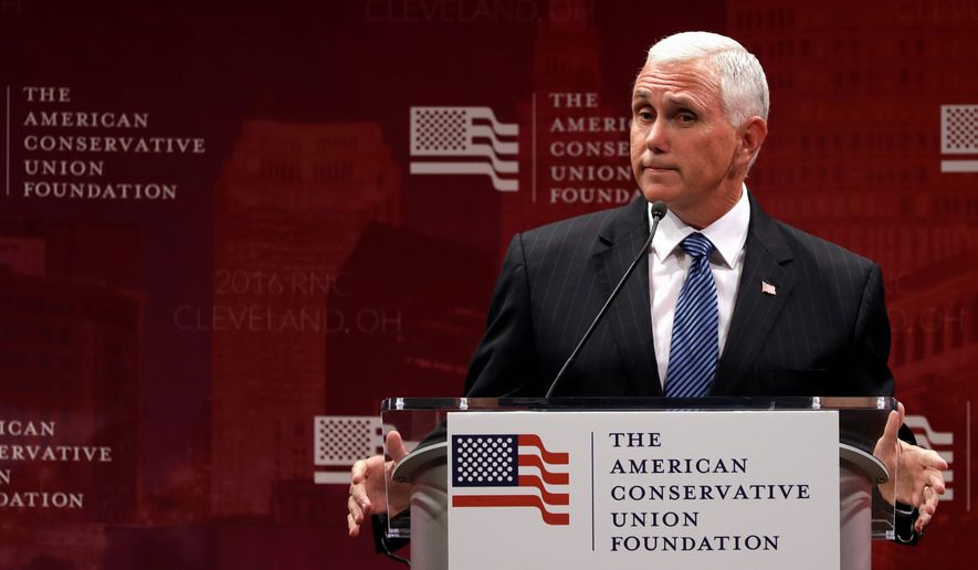 "The Oklahoma state attorney general described Mike Pence, Donald Trump's pick for vice president, as ""a solid conservative choice who understands the issues of federalism at a very personal level."" (Associated Press)"