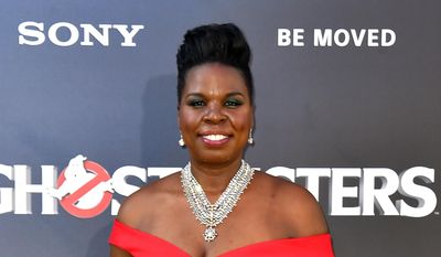 """Leslie Jones arrives at the Los Angeles premiere of """"Ghostbusters"""" in this July 9, 2016, file photo. In a series of posts Monday, July 19, Jones said she had been pummeled with racist tweets. She said the messages were deeply hurtful and brought her to tears. (Photo by Jordan Strauss/Invision/AP, File)"""