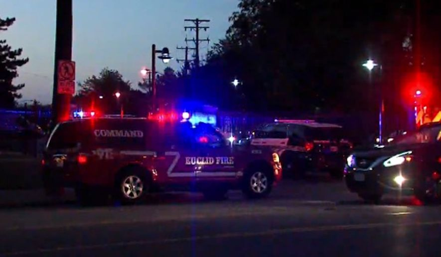 A teenager was killed and a 12-year-old boy hospitalized Sunday after gunmen opened fire during an impromptu anti-violence rally in Euclid, Ohio, police said. (WEWS)