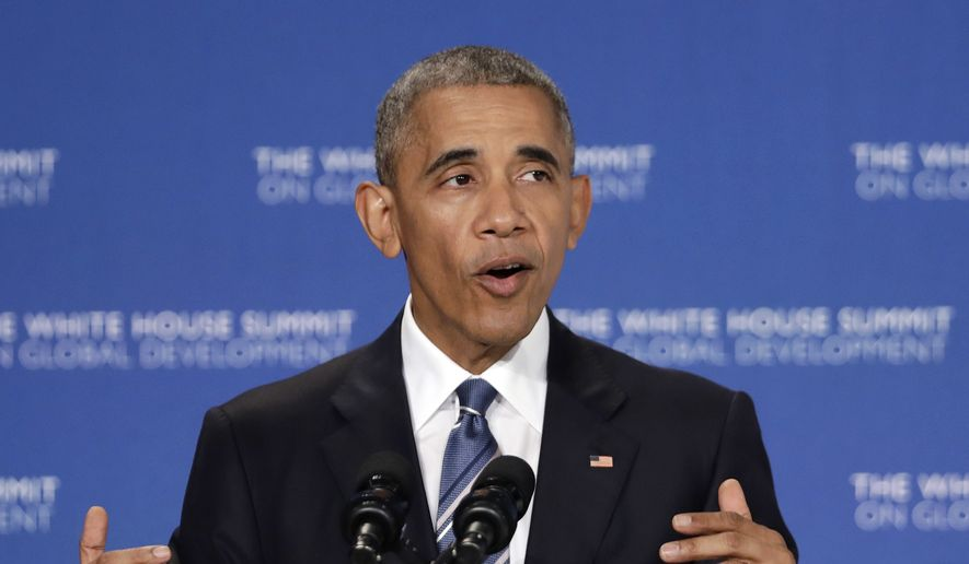 President Barack Obama speaks at the White House Summit on Global Development at the Ronald Reagan Building in Washington, Wednesday, July 20, 2016. (AP Photo/Manuel Balce Ceneta)