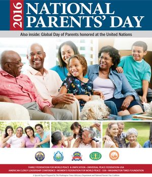 Download the Special Report prepared by The Washington Times Advocacy Department and National Parents' Day Coalition available in the July 21, 2016, edition of The Washington Times. (2.6 MB)