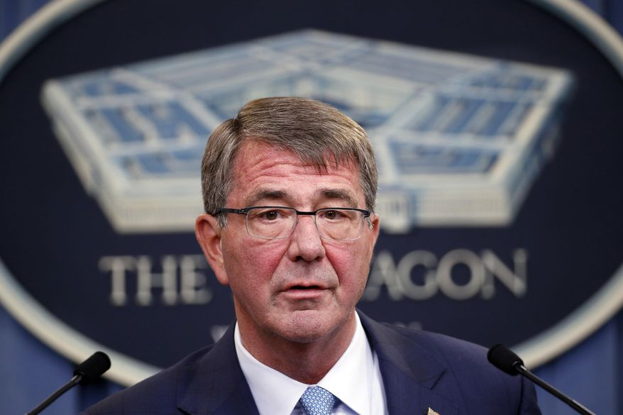 Defense Secretary Ashton Carter speaks during a news conference at the Pentagon in this June 30, 2016 file photo.  (AP Photo/Alex Brandon, File) **FILE**