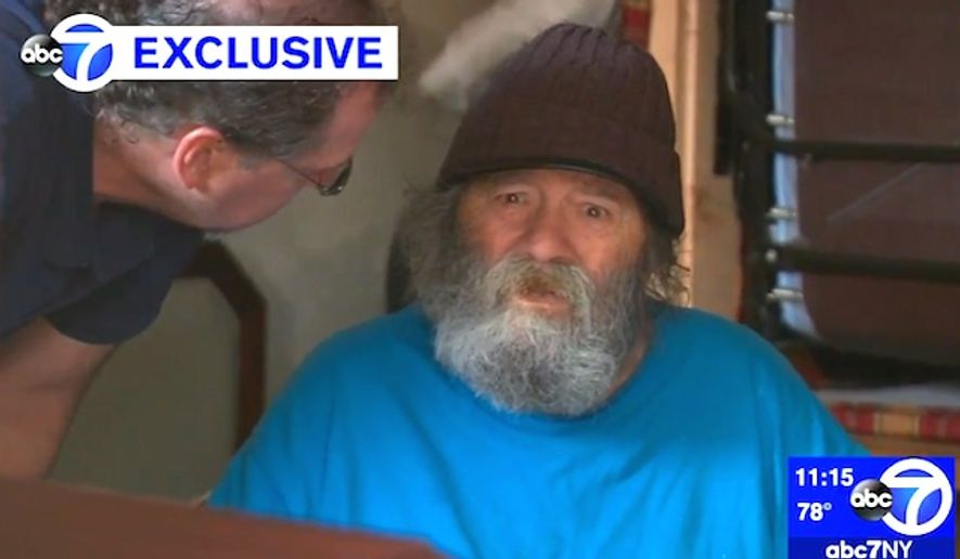 Marine veteran David McClellan, 86, was held captive in a New York motel for four years. (ABC-7 New York screenshot)