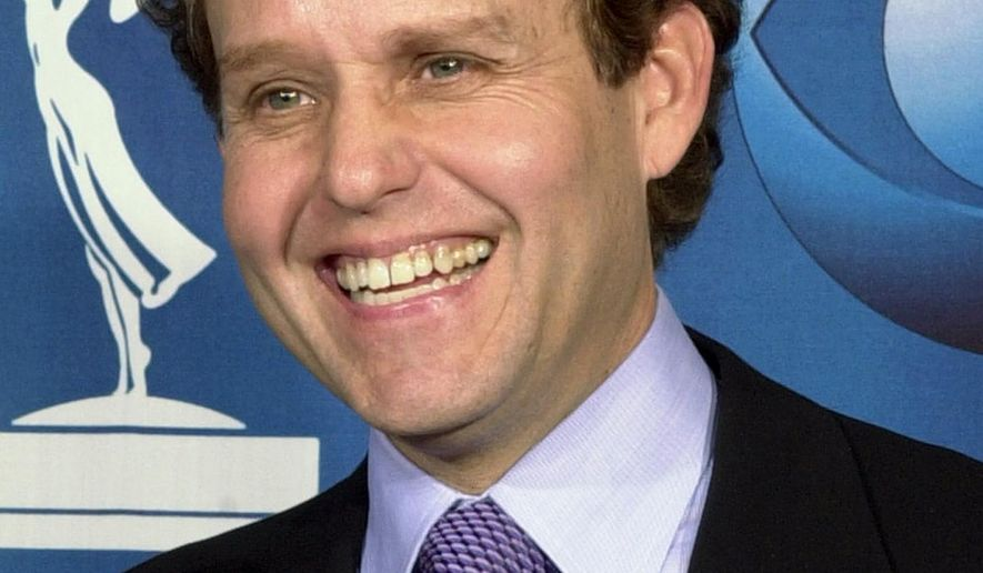 "FILE - In this Nov. 4, 2001, file photo, actor Peter MacNicol smiles at the 53rd annual Primetime Emmy Awards at the Shubert Theatre in Los Angeles. MacNicol has been disqualified for an Emmy nomination as a guest for his work in season 5 of ""Veep"" because he appeared in two many episodes of the HBO comedy. (AP Photo/Reed Saxon, File)"
