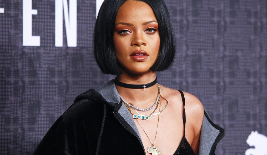 "FILE - In this Feb. 12, 2016 file photo, Rihanna attends the JFENTY PUMA by Rihanna fashion show in New York. Rihanna is checking into the final season of ""Bates Motel"" as Marion Crane. The cast and crew of the A&E drama announced at San Diego Comic-Con International on Friday, July 22, 2016, that the singer-actress will be joining them to portray the role originated by Janet Leigh in the original film version of ""Psycho."" (Photo by Andy Kropa/Invision/AP, File)"