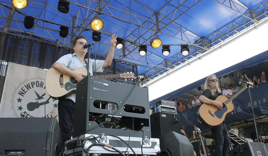 The Violent Femmes perform at the Newport Folk Festival on Friday, July 22, 2016, in Newport, R.I., the first of three days of concerts at Fort Adams State Park. (AP Photo/Michelle R. Smith)