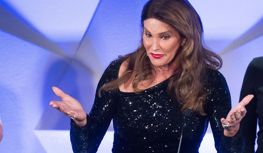 FILE - In this May 14, 2016, file photo, award recipient Caitlyn Jenner speaks during the 27th Annual GLAAD Media Awards in New York. Jenner discussed victories in her life, including winning Olympic gold, in a video released by clothing retailer H&M on Wednesday, July 20, 2016. (Photo by Charles Sykes/Invision/AP, File)