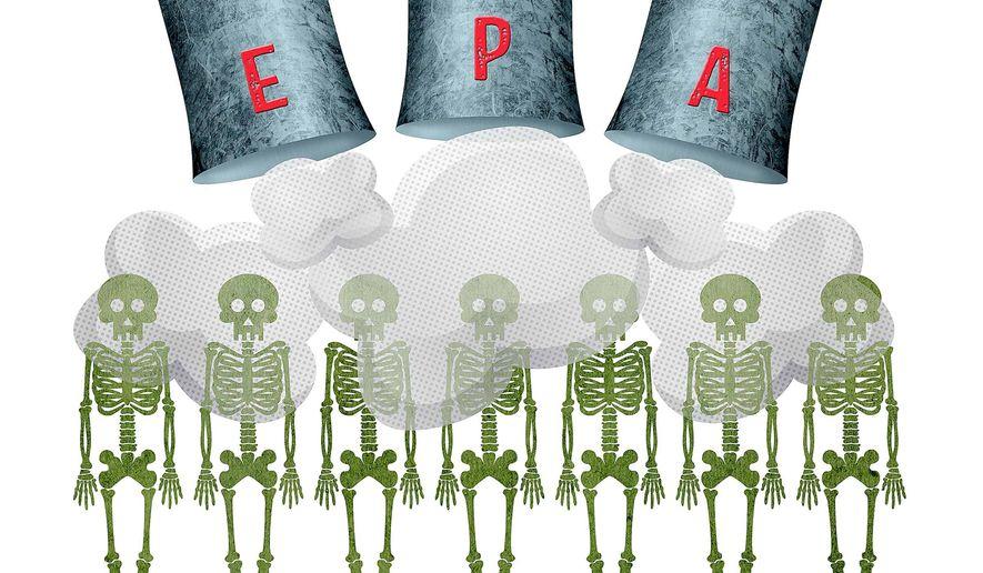 EPA Smog Test on Humans Illustration by Greg Groesch/The Washington Times