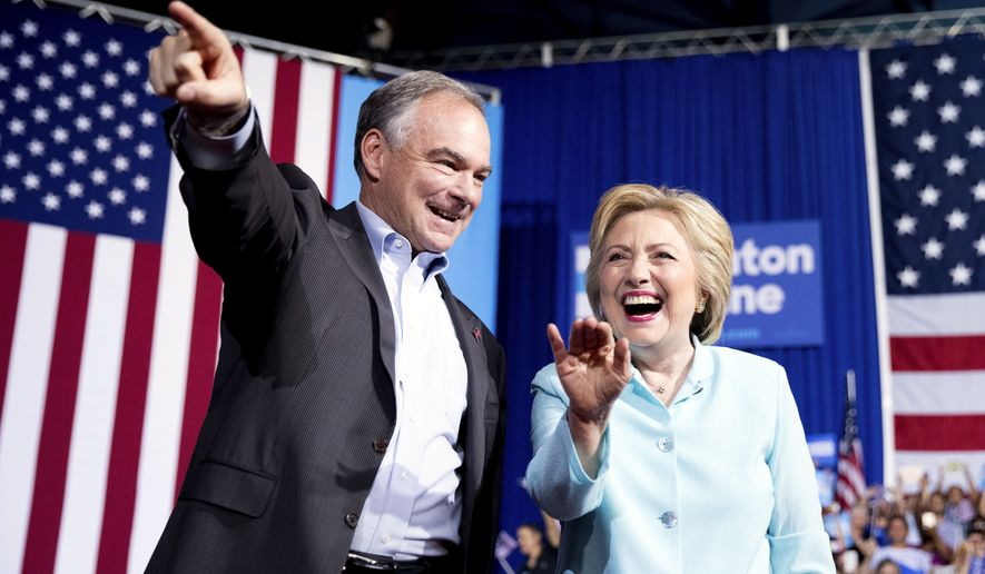 Democratic presidential candidate Hillary Clinton has chosen Sen. Tim Kaine of Virginia to be her running mate. (Associated Press)