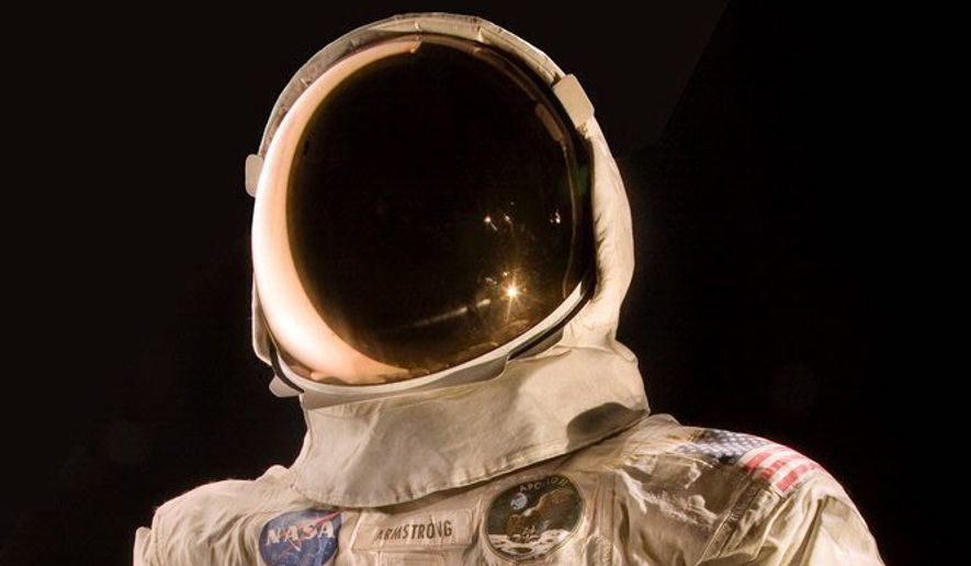 The spacesuit worn by astronaut Neil Armstrong, the first man to walk on the moon, was pulled from the Smithsonian's National Air and Space Museum's Apollo exhibit in 2006 because of noticeable deterioration. (Associated Press/File)