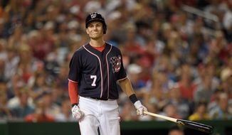 The Washington Nationals will have to find a place in the field for Trea Turner with first baseman Ryan Zimmerman expected to be activated from the disabled list on Tuesday. (Associated Press)