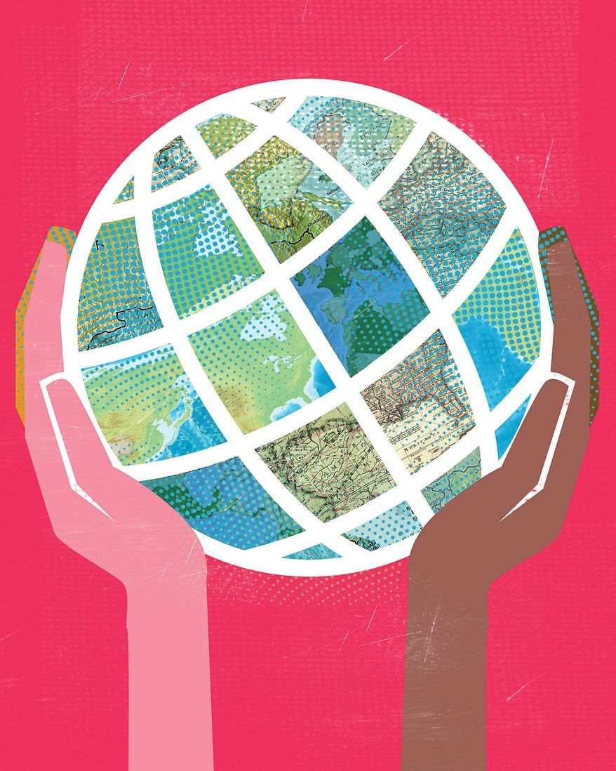 "Illustration on ""globalism"" and the realities of interdependence by Linas Garsys/The Washington Times"