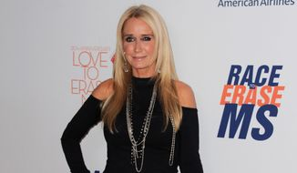 "FILE - In this May 3, 2013 file photo, Kim Richards arrives at the 20th annual Race to Erase MS event ""Love to Erase MS"" at the Hyatt Regency Century Plaza in Los Angeles. Richards was sentenced to serve three years on probation and perform 300 hours of community labor on Tuesday, Oct. 27, 2015, after she pleaded no contest to shoplifting from a Los Angeles Target store in August, court records show. (Photo by Jordan Strauss/Invision/AP, File)"