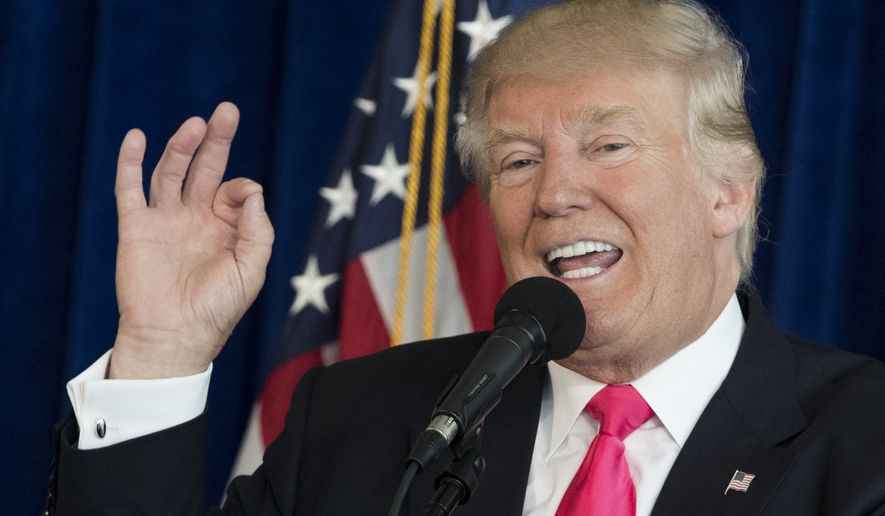 Republican presidential candidate Donald Trump speaks during a news conference at Trump National Doral, Wednesday, July 27, 2016, in Doral, Fla. (AP Photo/Evan Vucci)