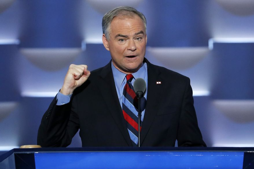 Sen. Tim Kaine is among Democrats leading the charge against the Trump administration. (AP Photo/J. Scott Applewhite)