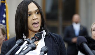 Baltimore State's Attorney Marilyn Mosby said she has no regrets in bringing charges against the six officers. (Associated Press)