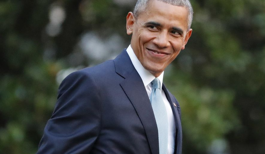 President Barack Obama smiles as he walks across the South Lawn of the White House in Washington before boarding Marine One helicopter for the short flight to nearby Andrews Air Force Base, Wednesday, July 27, 2016. (AP Photo/Pablo Martinez Monsivais) ** FILE **
