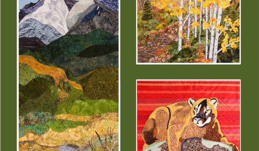 "Collectively known as ""Inspired by the National Parks,"" 177 art quilts are on display at the Virginia Quilt Museum.(Courtesy of Virginia Quilt Museum)"