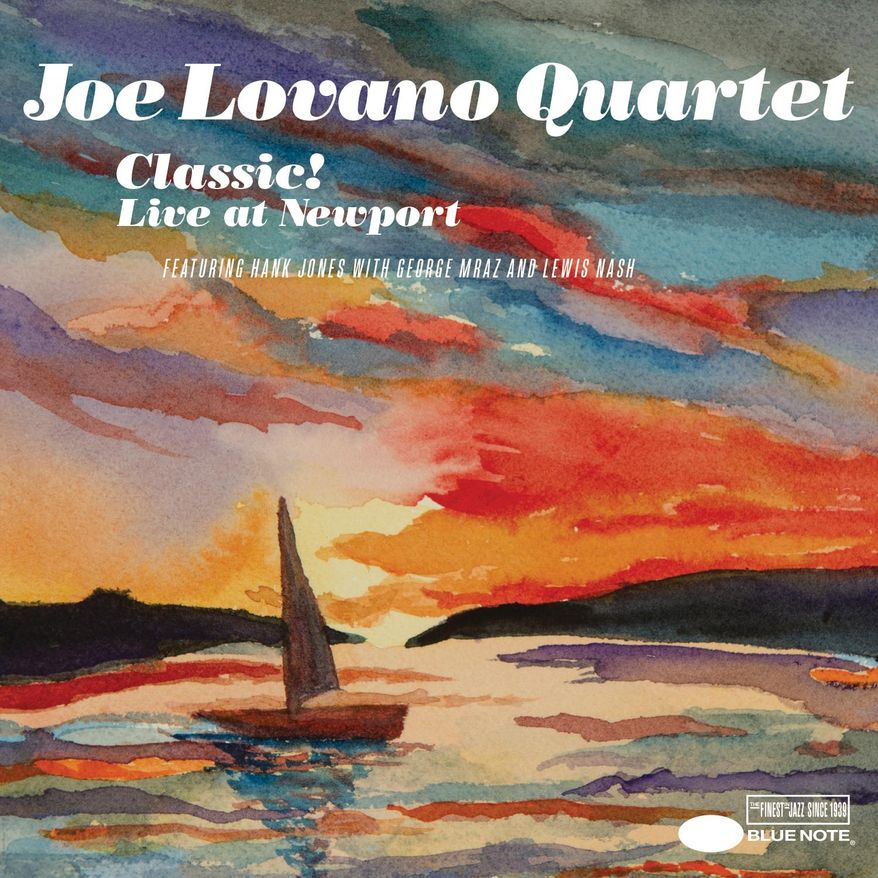 """This CD cover image released by Blue Note records shows, """"Classic! Live At Newport,"""" by Joe Lovano Quartet. (Blue Note via AP)"""