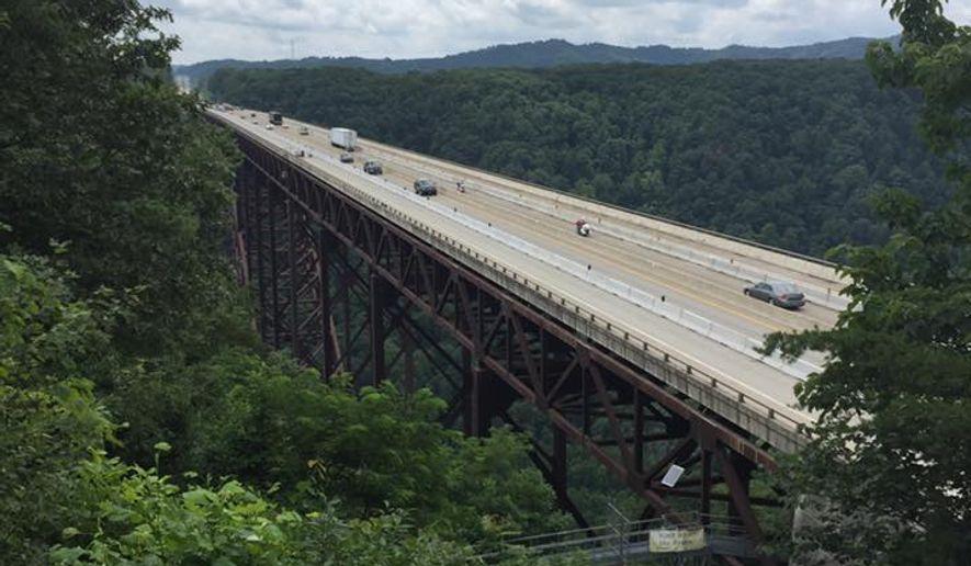 The New River Gorge Bridge in West Virginia.  (Eric Althoff)