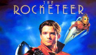 """Rocketeer"" movie poster design, via TheVerge.com [http://www.theverge.com/2012/8/22/3260904/disney-rocketeer-reboot]. Accessed July 28, 2016."