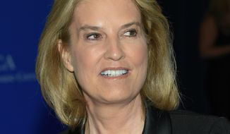 In this April 30, 2016 file photo, Fox News Channel's Greta Van Susteren attends the White House Correspondents' Association Dinner in Washington. Susteren is clarifying remarks she made about ousted boss Roger Ailes, saying she didn't intend to defend or condemn him when she gave interviews after former colleague Gretchen Carlson filed a sexual harassment lawsuit against him. (Photo by Evan Agostini/Invision/AP, File)