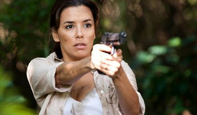 Eva Longoria told People Magazine she was raised on a ranch and first became comfortable handling guns at age 4