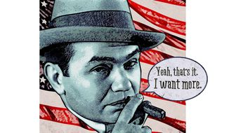 Edward G. Robinson Wants More, See? Illustration by Greg Groesch/The Washington Times