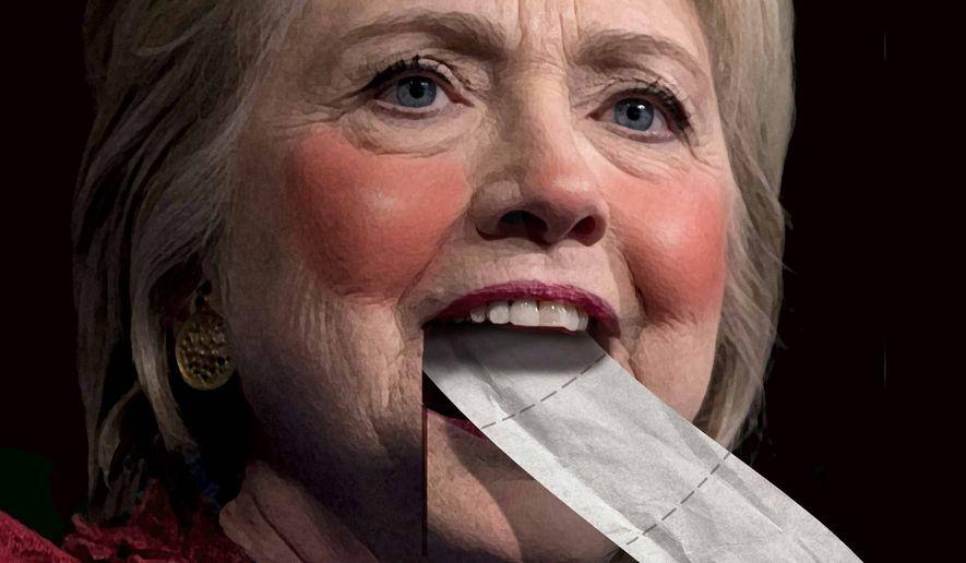 Illustration on Hillary Clinton's acceptance speech            The Washington Times