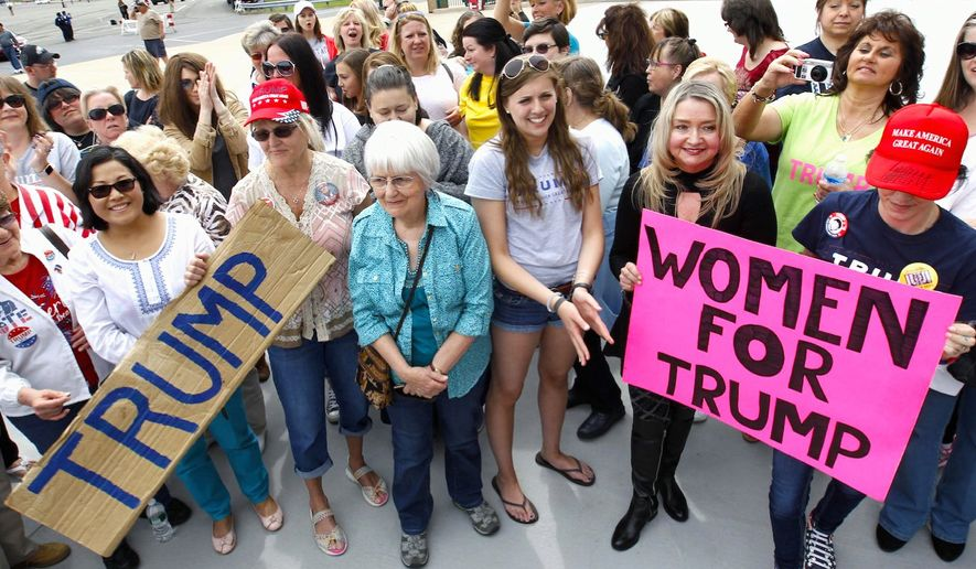 Women voters who support Donald Trump are also generous in their donations, according to a new analysis. (Associated Press)