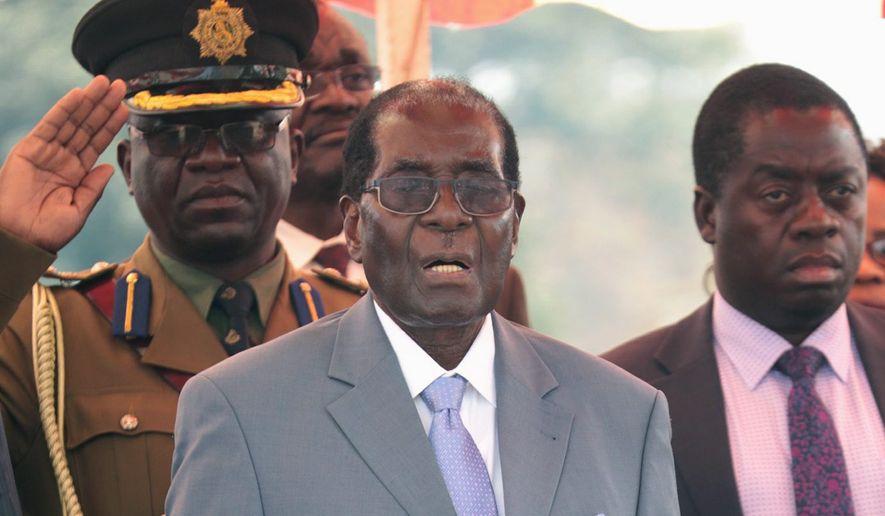 Zimbabwean President Robert Mugabe, 92, is facing revolt among some military veterans. (Associated Press)