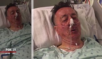 Gerald Sykes, a New Jersey homeowner, is in critical condition after he was shot three times by state police responding to the wrong address Friday night. (FOX 29)