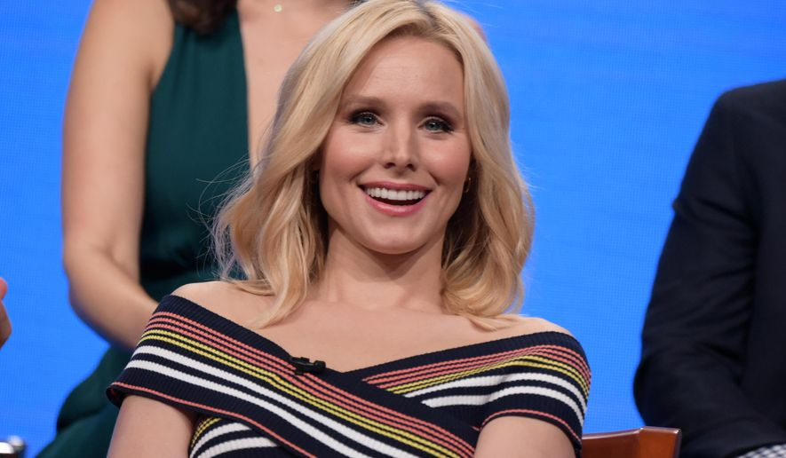 "Kristen Bell participates in ""The Good Place"" panel during the NBC Television Critics Association summer press tour on Tuesday, Aug. 2, 2016, in Beverly Hills, Calif. (Photo by Richard Shotwell/Invision/AP)"