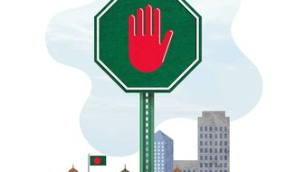 Anti-terror Tactics in Bangladesh Illustration by Greg Groesch/The Washington Times