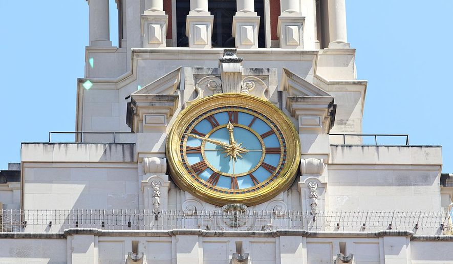 The clock tower at the University of Texas at Austin is shown here in this file photo.  (Joshua Guerra/The Daily Texan via AP)