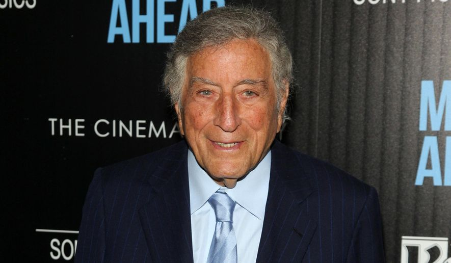 """In this March 23, 2016, file photo, Tony Bennett attends the special screening of """"Miles Ahead"""" in New York. (Photo by Andy Kropa/Invision/AP, File)"""