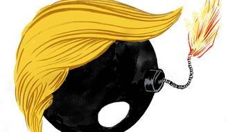 Illustration on the unpredictable Donald Trump campaign by Mark Weber/Tribune Content Agency